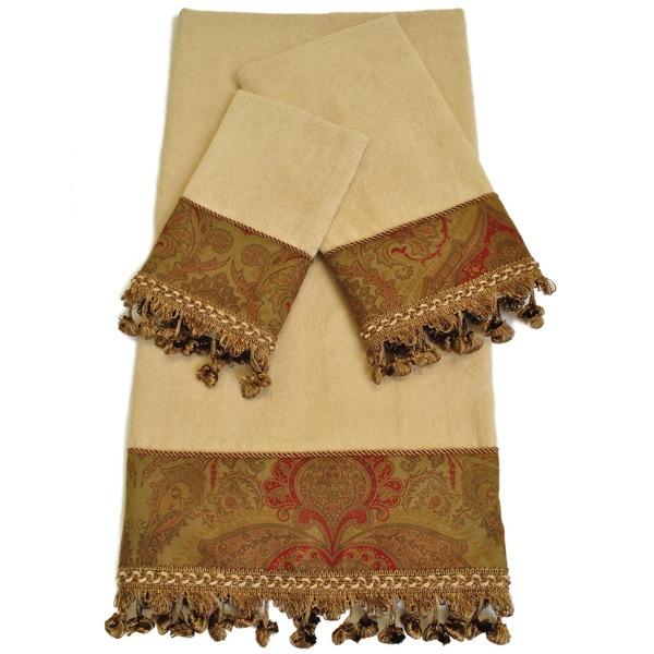 Shop Sherry Kline Rosabella Embellished 3 Piece Towel Set