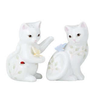 Lenox Butterfly Meadow Kitten Salt & Pepper Shaker Set
