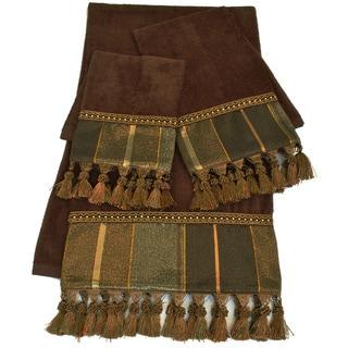 Sherry Kline Chambord Brown Embellished 3-piece Towel Set
