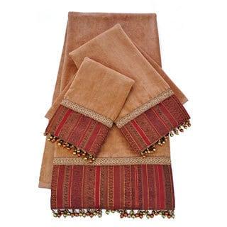 Sherry Kline Belvedere Gold-brick Embellished 3-piece Towel Set