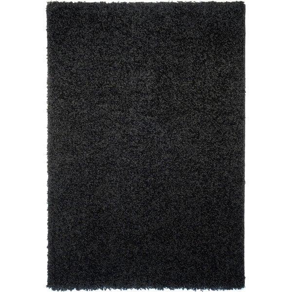Soft Shag Black Area Rug (6'7 x 9'3)