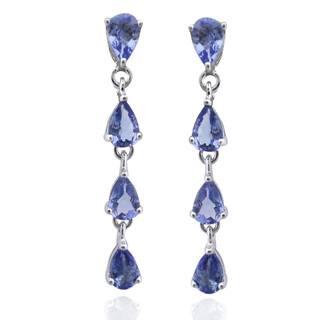 De Buman Sterling Silver Genuine Tanzanite Earrings|https://ak1.ostkcdn.com/images/products/8276798/8276798/De-Buman-Sterling-Silver-Genuine-Tanzanite-Earrings-P15598268.jpg?impolicy=medium