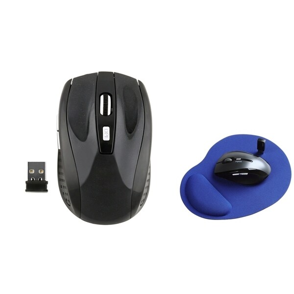 INSTEN Wrist Comfort Mouse Pad/ Wireless Optical Mouse