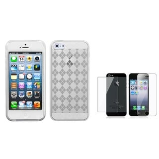 INSTEN Clear Screen Protector/ Candy Skin Phone Case Cover for Apple iPhone 5