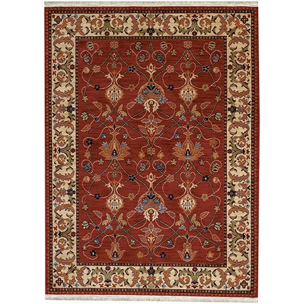 Karastan English Manor William Morris Red Rug (2'6 x 4')