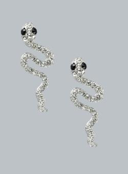 Punch Snake Studded Earrings