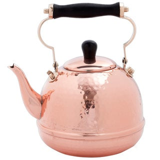 Copper Hammered 2-qt. Tea Kettle with Wood Handle|https://ak1.ostkcdn.com/images/products/8277271/8277271/Solid-Copper-Hammered-2-Quart-Tea-Kettle-with-Wood-Handle-P15598275.jpg?_ostk_perf_=percv&impolicy=medium