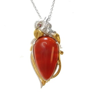 Michael Valitutti Two-tone Carnelian and Ruby Necklace