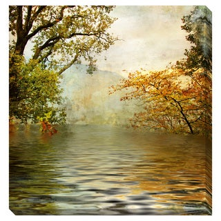 Gallery Direct Golden Lake Oversized Gallery Wrapped Canvas