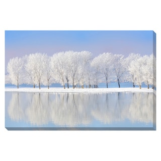 Gallery Direct Winter Trees Oversized Gallery Wrapped Canvas