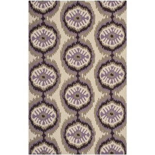 Safavieh Hand-Hooked Four Seasons Beige/ Purple Polyester Rug (3'6 x 5'6)