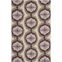 Safavieh Hand-Hooked Four Seasons Beige/ Purple Polyester Rug - 3'6' x 5'6'