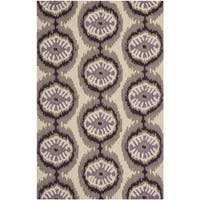 Safavieh Hand-Hooked Four Seasons Beige/ Purple Polyester Rug - 8' x 10'