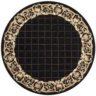 Safavieh Hand-hooked Chelsea Black Wool Rug (8' x 8' Round)