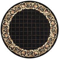 Safavieh Hand-hooked Chelsea Black Wool Rug - 8' Round