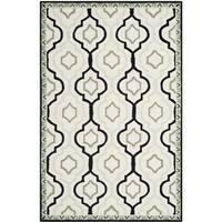 Safavieh Hand-made Chelsea Ivory/ Black Wool Rug - 9'2 x 12'6