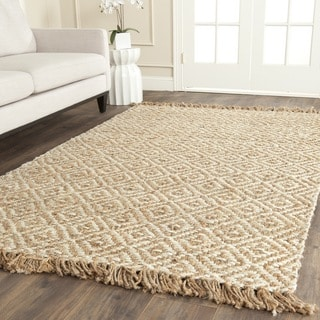 Safavieh Casual Natural Fiber Hand-Woven Sisal Style Natural / Ivory Jute Rug (6' x 6' Square)