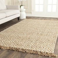 Safavieh Casual Natural Fiber Hand-Woven Sisal Style Natural / Ivory Jute Rug - 6' Square
