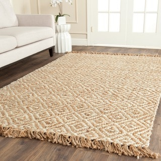 Safavieh Casual Natural Fiber Hand-Woven Sisal Style Natural / Ivory Jute Rug (8' x 8' Square)