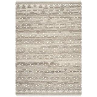 Safavieh Hand-woven Natural Kilim Natural/ Ivory Wool Rug (5' x 8')