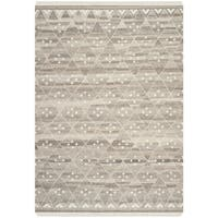 Safavieh Hand-woven Natural Kilim Natural/ Ivory Wool Rug - 5' X 8'