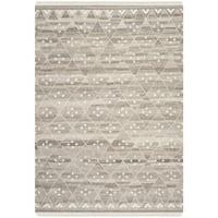 Safavieh Hand-woven Natural Kilim Natural/ Ivory Wool Rug (6' x 9')