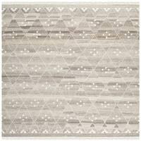 Safavieh Hand-woven Natural Kilim Natural/ Ivory Wool Rug - 7' Square