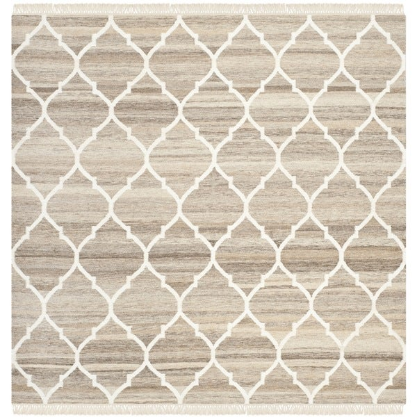 Shop Safavieh Hand Woven Natural Kilim Light Grey Ivory