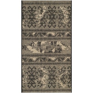 Safavieh Palazzo Black/ Beige Rustic Abstract Chenille Area Rug - 3' x 5'