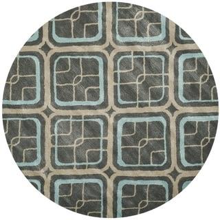 Safavieh Soho Gray Handmade Wool Area Rug (6' Round)