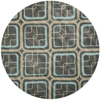 Safavieh Soho Grey Handmade Wool Area Rug - 6' Round