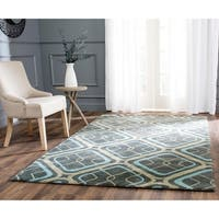 "Safavieh Hand-made Soho Grey Wool Rug - 8'3"" x 11'"