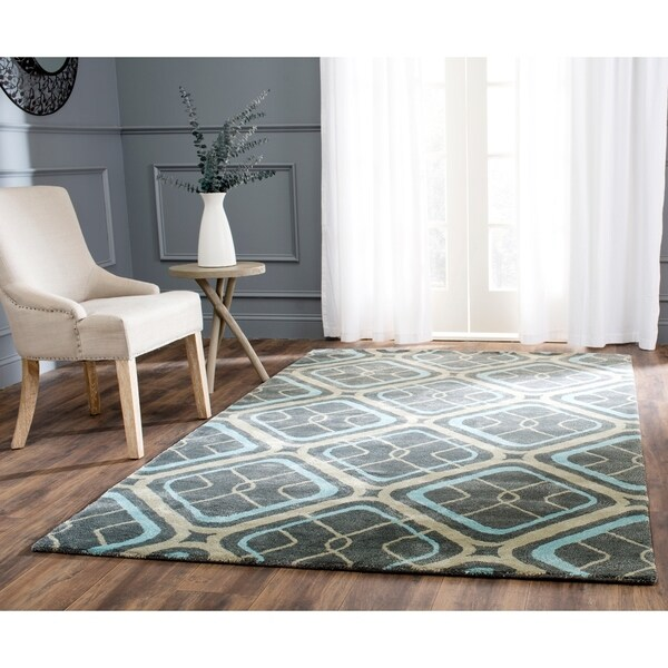 Safavieh Handmade Soho Grey Wool Rug - 8'3 x 11'