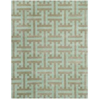 Safavieh Hand-made Soho Light Blue Wool Rug (3'6 x 5'6)