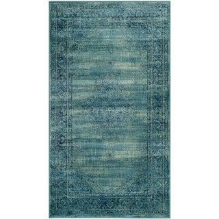 Safavieh Vintage Turquoise Viscose Rug (3' 3 x 5' 7)