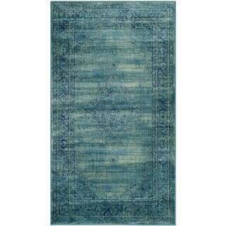 Safavieh Vintage Oriental Turquoise Distressed Silky Viscose Rug (3' 3 x 5' 7)