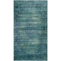 Safavieh Vintage Oriental Turquoise Distressed Silky Viscose Rug - 3' 3 x 5' 7