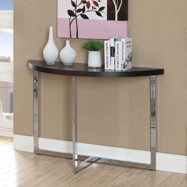 Cappuccino Chrome Sofa Console Table