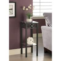 Tempered Glass Top Black Plant Stand