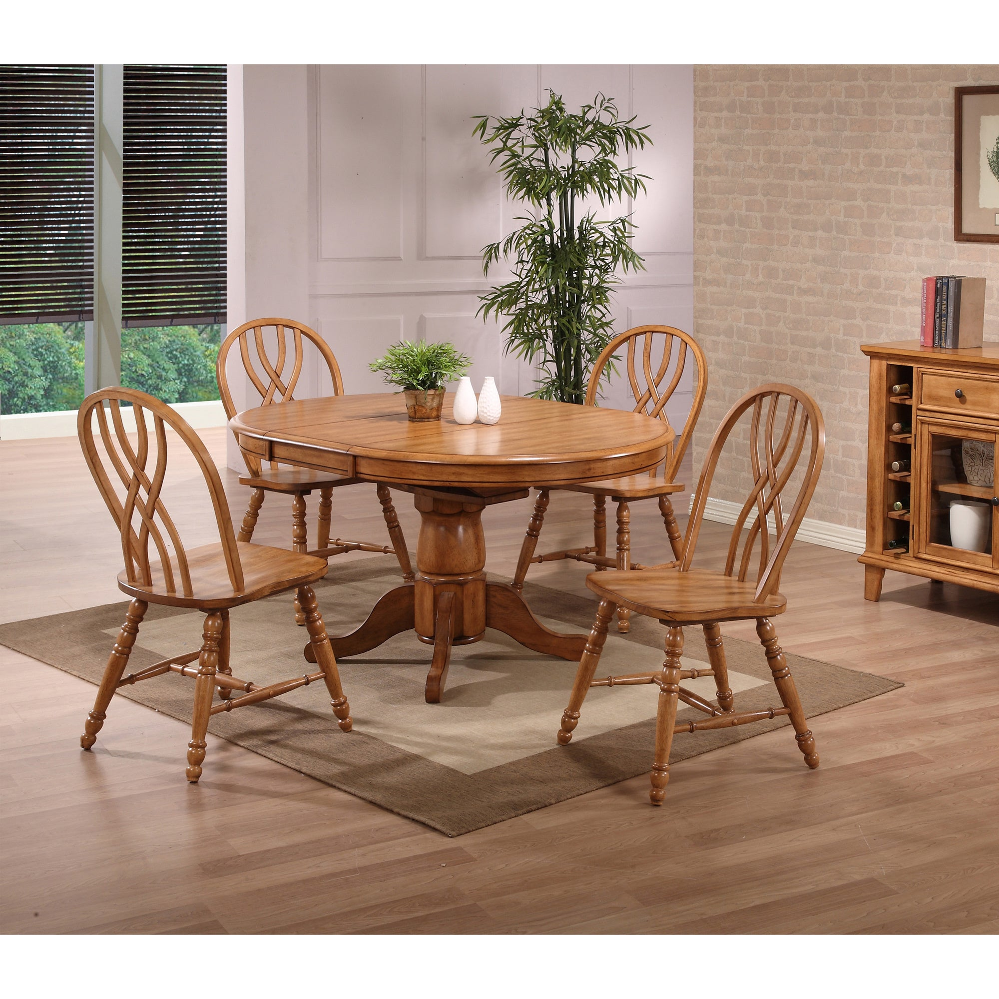 Coast Whitaker Furniture Missouri Oak (Brown) Round Dinin...