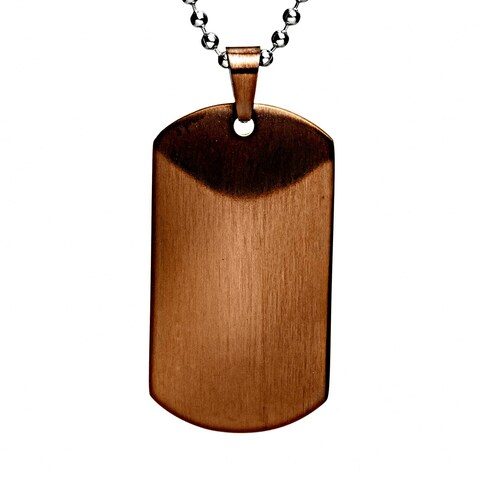 Crucible Men's Satin Dog Tag Necklace