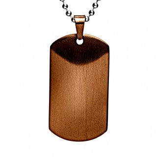 Crucible Men's Satin Dog Tag Necklace (Option: Brown)