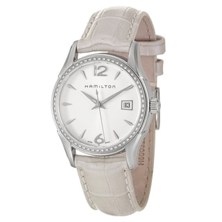 Hamilton Women's 'Jazzmaster' White Dial Swiss Quartz Watch