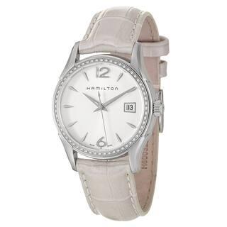 Hamilton Women's 'Jazzmaster' White Dial Swiss Quartz Watch|https://ak1.ostkcdn.com/images/products/8277993/8277993/Hamilton-Womens-Jazzmaster-White-Dial-Swiss-Quartz-Watch-P15599130.jpg?impolicy=medium
