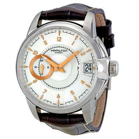 Hamilton Men's H40615555 'Timeless Classic Railroad' Automatic Brown Leather Watch