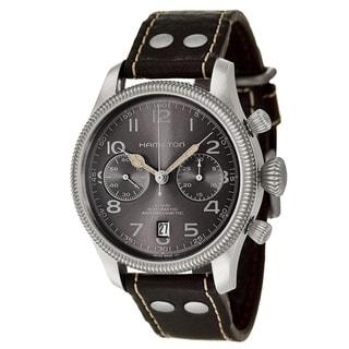 Hamilton Men's 'Khaki Field' Stainless Steel Chronograph Watch