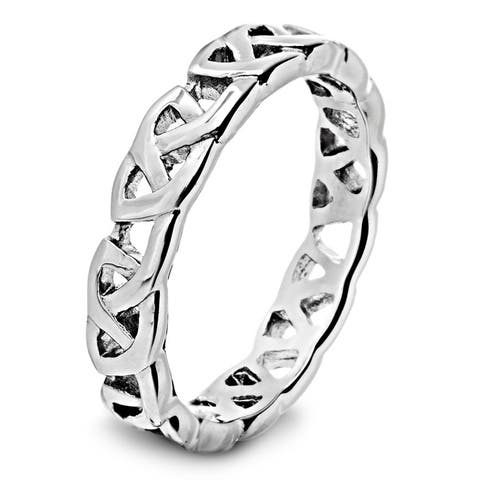 Stainless Steel Men's Celtic Knot Band