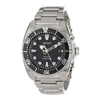 Seiko Men's SKA371 Kinetic Silver Stainless Steel Automatic Watch