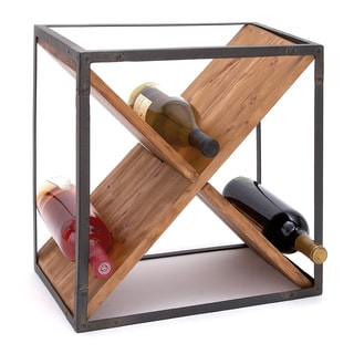 Sheet Metal Wood Wine Rack