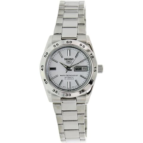Seiko Women's Automatic Silver Stainless-Steel White Dial Automatic Watch